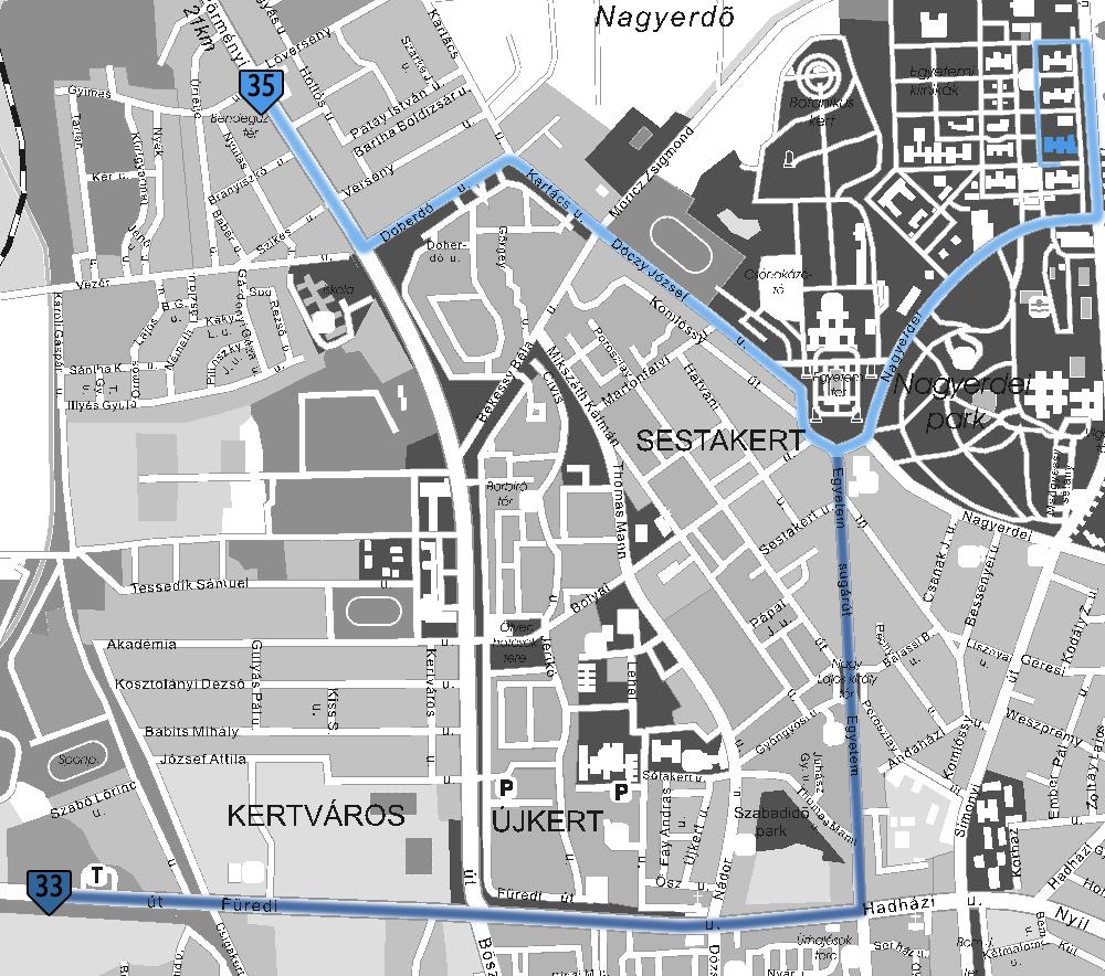 klinika térkép DEOEC Ortopédiai Klinika klinika térkép
